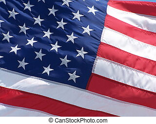Old Glory - Full picture of the American flag