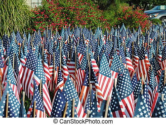 old glory - stars and stripes, red white and blue flags.