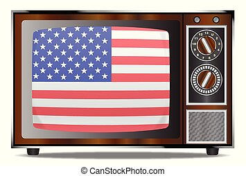 Old Glory Television Set - An old wood surround television...