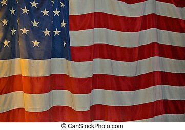 Old Glory, the American flag.