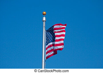 Old Glory - The United States of America Flag flying in a...