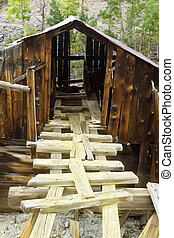 Old Gold Mine Building - Ruins of historical old gold mine...
