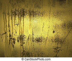 Old gold wall ( Textured gold background ).