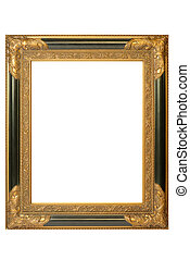 picture frame - Old golden barock picture frame with...