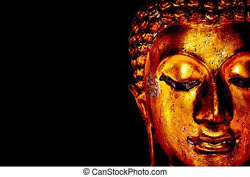 Old golden Buddha statue
