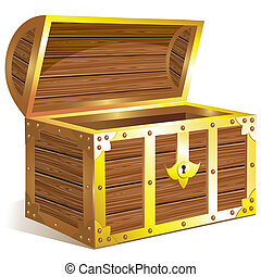 Old golden chest