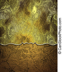 Old golden grunge background with abstract bottom texture