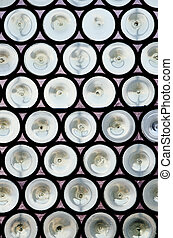 Old gothic windows - Close-up of old gothic windows in...