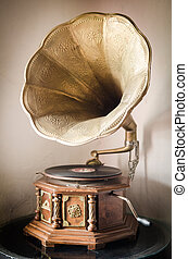 Old gramophone - Classical interior with gramophone