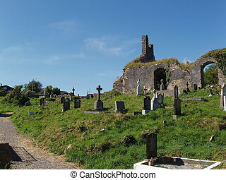 Old Graveyard - A hilly old graveyard.