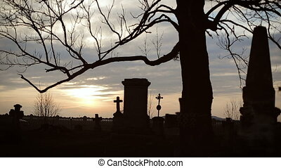 Old Graveyard with Ancient Crosses 2 - Old Graveyard with...