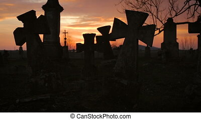 Old Graveyard with Ancient Crosses 8 - Old Graveyard with...