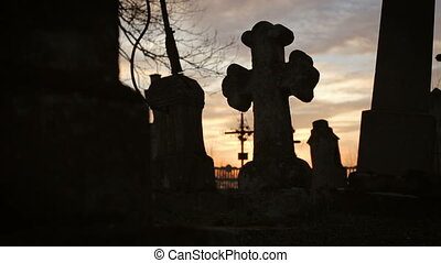 Old Graveyard with Ancient Crosses 9 - Old Graveyard with...