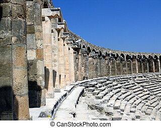 Old greek amphitheater Aspendos - Turkey