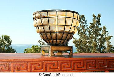 Greek style lamp