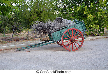 old green cart