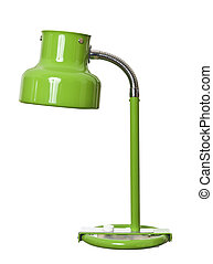 Old green lamp