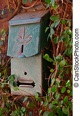Old green mailbox