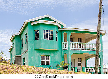 Old Green Plaster Home in the Tropics
