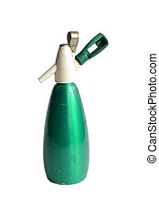 old green siphon on a white background