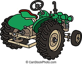 Old green tractor