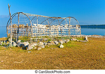 Old greenhouse at Greece