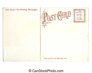 Retro postcard. Collectible - mail related object. Antique.