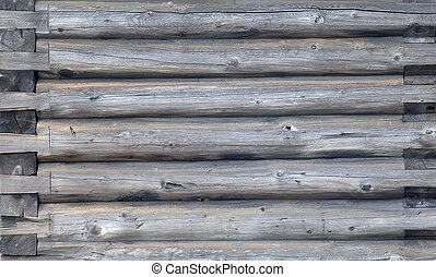 Old grey timbered wall of framework