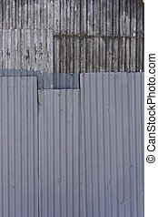 Old grooved steel texture