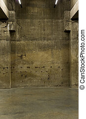 Old grunce interior - Wall and floor of beatup concrete....