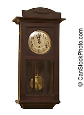 old grunge antique wall clock