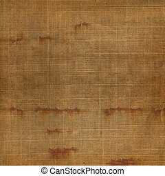 Old grunge background of shabby sackcloth for design