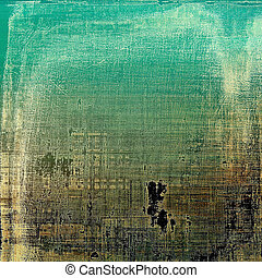Old grunge background or aged shabby texture with different color patterns: blue; green; yellow (beige); brown; black