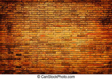 Old ,grunge, brick wall as background