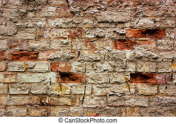 Old grunge bricks wall texture