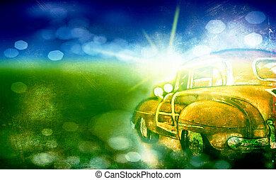 Old grunge car