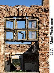 Old grunge destroyed factory