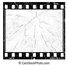 Old grunge film frame