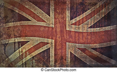 Old grunge flag of United kingdom