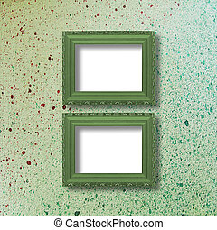 Old grunge frames Victorian style on the abstract background