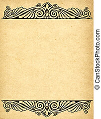 old grunge paper background with victorian style