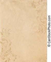 old grunge paper background with vintage victorian style