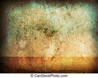 old grunge paper horizontal
