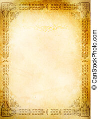 Old grunge paper with old-fashioned border.