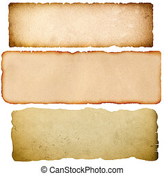 Old grunge parchment. - Old parchment set. Natural grunge...