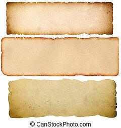 Old grunge parchment. - Old parchment set. Natural grunge...