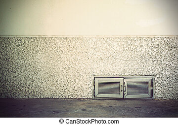 old grunge room with concrete wall, Vintage background