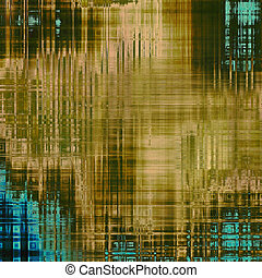 Old grunge textured background. With different color patterns: yellow (beige); brown; blue; green
