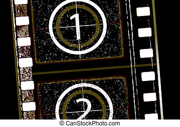 film strip - Old grunge textured film strip