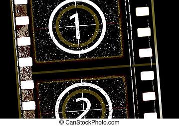 film strip - Old grunge textured film strip